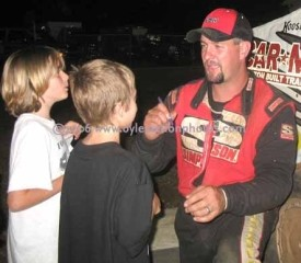 Jeremiah, signing autographs after another victory at Tri-City